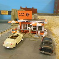 A & W Root Beer stand - kit