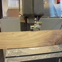 Resawing on the bandsaw.