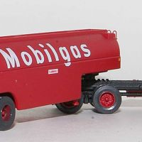 Rear View Of Trainworx Mobilgas Fuel Tanker