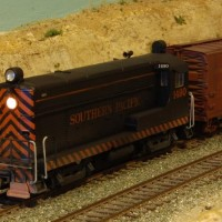 SP H12-44 1490.  Modified Walthers, with Soundtraxx Tsunami installed.