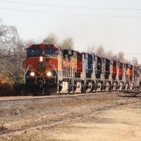 Power move: Norman, OK Dec 09.  Only three of these locomotives had their Prime Movers Running.