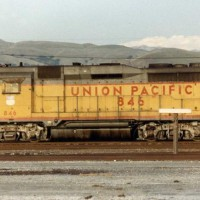 Union Pacific GP30 #846 sits in Milpitas, Ca.