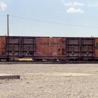 An ICG box car sits in Fremont, Ca.