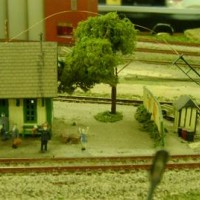 Created this scene on the traveling layout. The wiring in the background is due to rebuilding the signals.