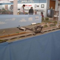 The complete Galveston Causeway Bridge module on the main layout of the club.