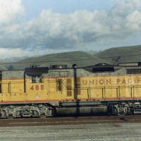 Former Western Pacific GP20 #2009 as Union Pacific #488.