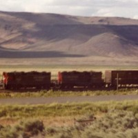 SP GP9s lead a train in Nevada.