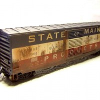 Intermountain BAR 50' PS BoxCar, weathered.