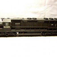 Kato SD45 CR (ex PC), repainted from PRR Version, weathered.
