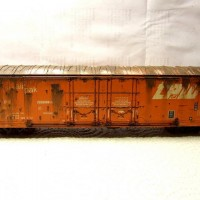 Athearn TP&W Evans Double Plug Door Boxcar, weathered.