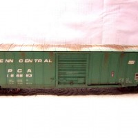 Atlas PC 50' ACF Precision Design Boxcar, weathered.