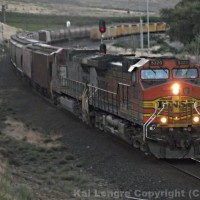 BNSF 5320 West at Avery, WA on the BNSF Fallbridge Subdivsion