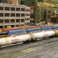 String of rusty tank cars