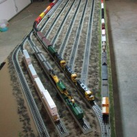 Long Train on Yard Reversing Loop