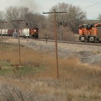BNSF Custer PIC 1367. Three trains in 20 minutes this day!.