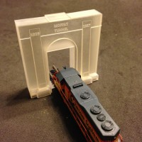 Moffat Tunnel entry only design in Z scale