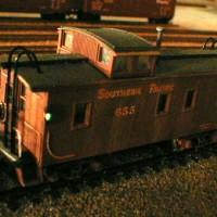 SP 655 Wooden, Lighted Coupola Caboose