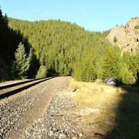 Campsite of the most rabid of railfans; Near Tunnel 30