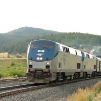 Amtrak #6 eastbound at East Rollins