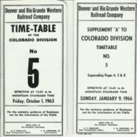 D&RGW Time Table #5 1965