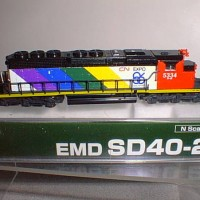 CISTOM CN SD40-2 #5334  SIDE VIEW