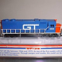 CUSTOM GT #5808 GP38 SIDE VIEW