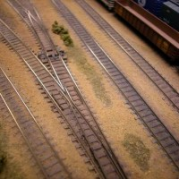 Sand Soil and Ballast:  Painted