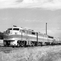 DRG&W Passenger Train Southbound at Englewood CO - August 1957