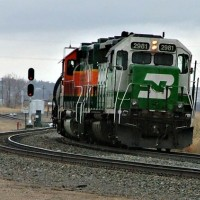 Minot, ND and a BNSF local returning to Gavin yard
