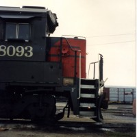 SSW8093 B40-8 in Delores Yard