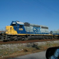 CSX Engine and Slug in Rocky Mount, NC