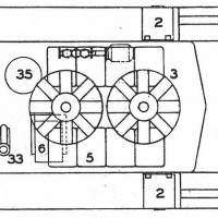 BLW DT6-6-2000 Drawing, detail showing two fans