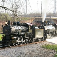 Milwaukee County Zoo Train Steam Doubleheader