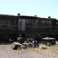 Locomotive, rolling stock and Caboose, Shellville, CA