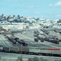 Bayshore Rail Yard, 1977, San Francisco & Brisbane, CA