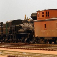 Willoughby Line - Shay and Caboose at Groveland