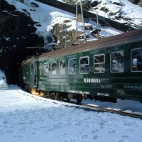 Flam incline train in Norway