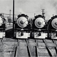 A gaggle of GS motive power