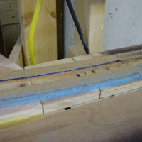 Superelevation of mainline (sanding down the end taper)