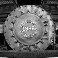 Graham County Railroad #1925 number plate