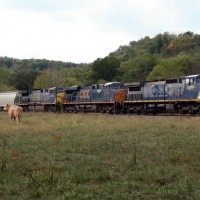 CSX7375 NB at Worthville KY