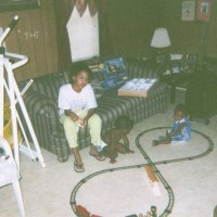 playing with the trainset