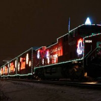 Canadian Pacific Holiday Train Sturtevant, WI Dec 2007