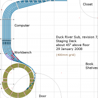 Track Plan, revision 7 : Staging Deck