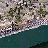 N Scale wind turbine train