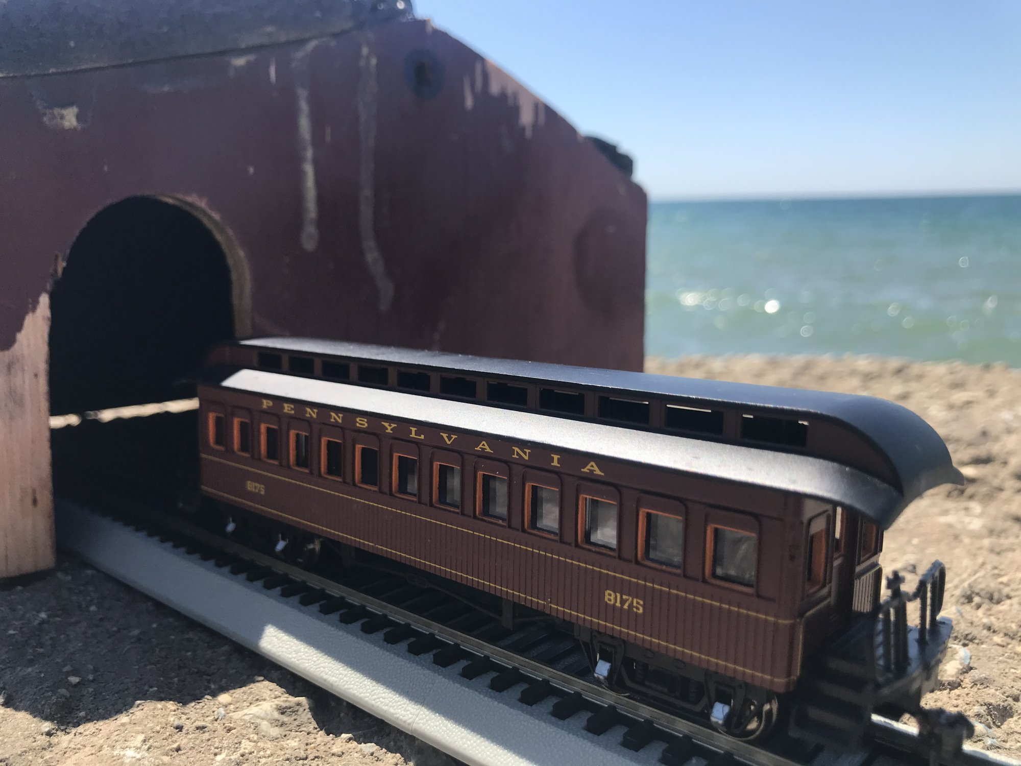 1880s Wooden Railroad Passenger Coach