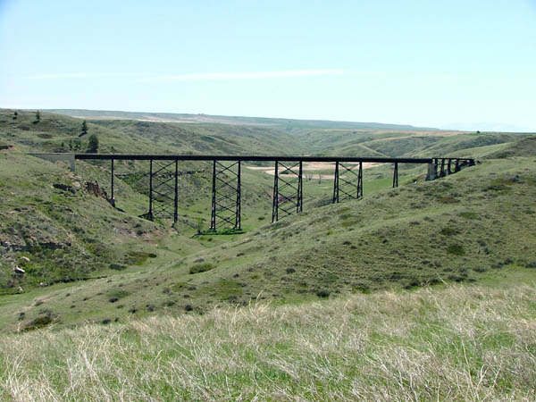 Another view, closer to Red Coulee trestle