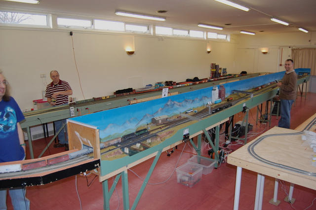 Anson complete: 17.1.09.  The layout is 42x8 feet, and has a seven-track storage yard.