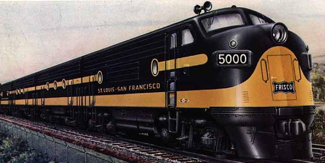 Artwork from a Frisco timetable