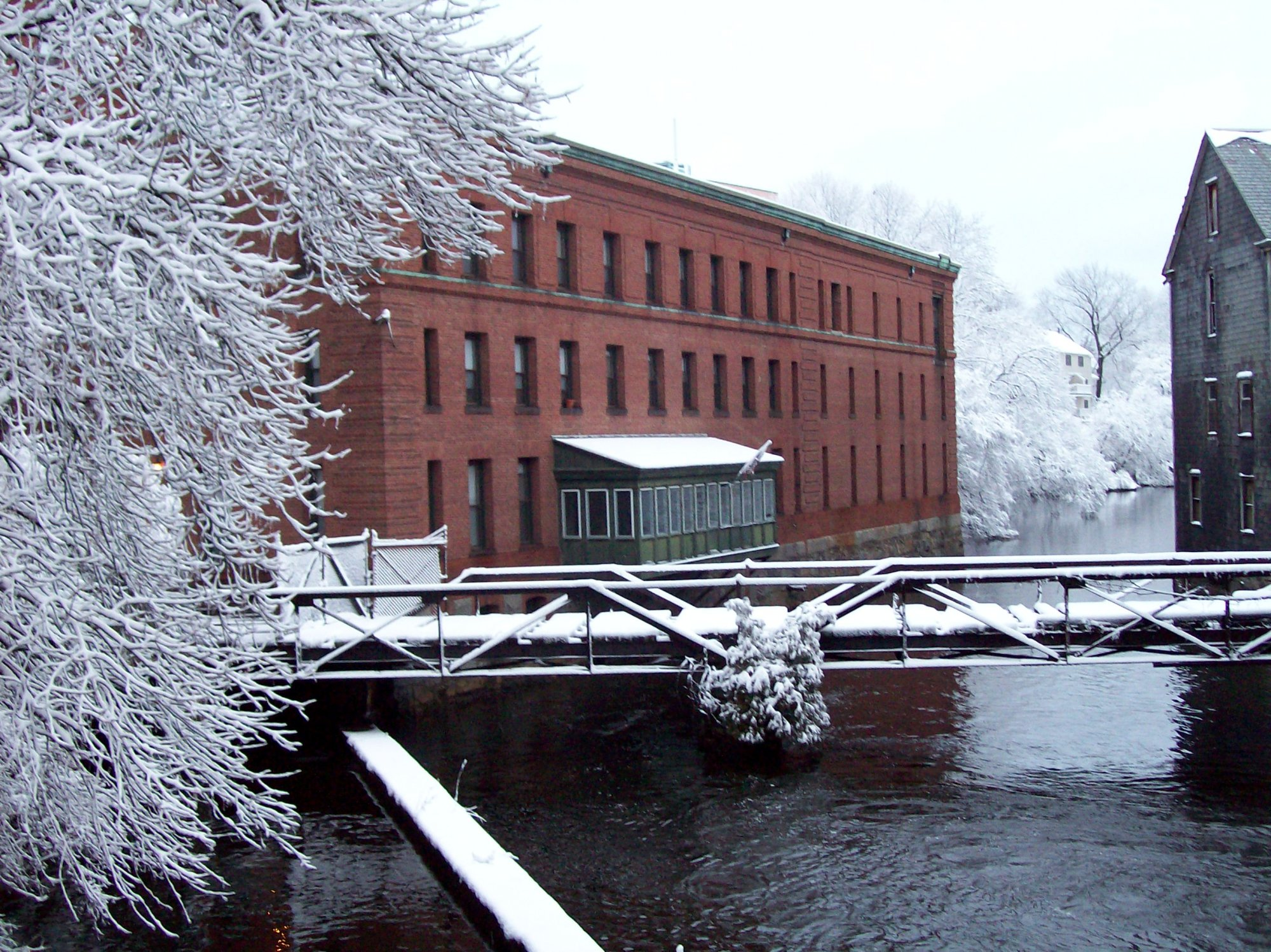 Baker Chocolate Factory in Winter.